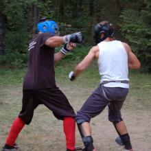 Trening wolnej walki zhongji sanda