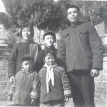 Yu Tiancheng z rodziną
