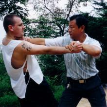 Shifu Kang Zhiqiang i shifu Brendan Tunks